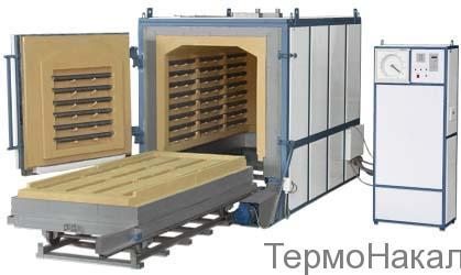 2 Электропечи камерные с выкатным подом для обжига керамики типа ПВО1