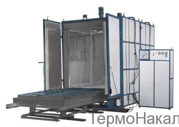 6Электропечи камерные с выкатным подом для термообработки цветных металлов типа ПВО1