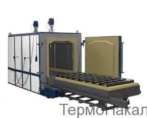 8Электропечи камерные для отпуска с выкатным подом типа ПВО4
